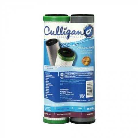 Culligan D250A Monitored Dual Filtration System Replacement Filter Cartridge Set