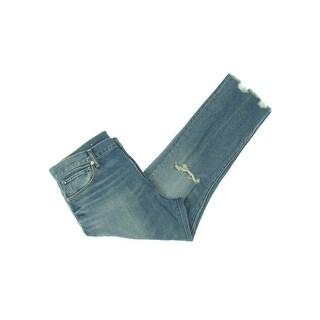 Denim & Supply Ralph Lauren Womens Monroe Tapered Leg Jeans Destroyed High Rise
