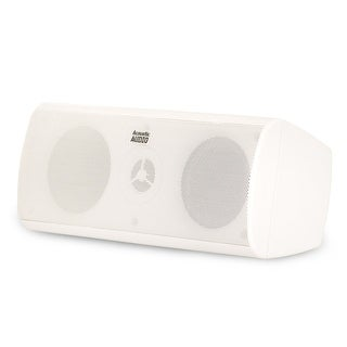 Acoustic Audio AA35CW Indoor 3 Way Center Speaker 400 Watts White Bookshelf