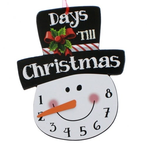Snowman Christmas Count Down