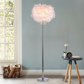 Link to Mirjam Chrome Crystal 1 light Fancy Shade Floor Lamp Similar Items in Floor Lamps