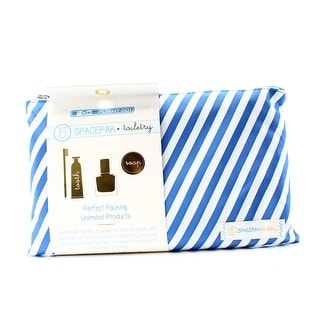 Flight 001 NEW Blue Striped Space Travel Pack Toiletry Pouch Case
