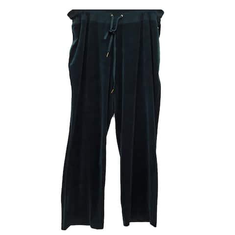 Calvin Klein Velour Mid Rise Pants, Green, 2X