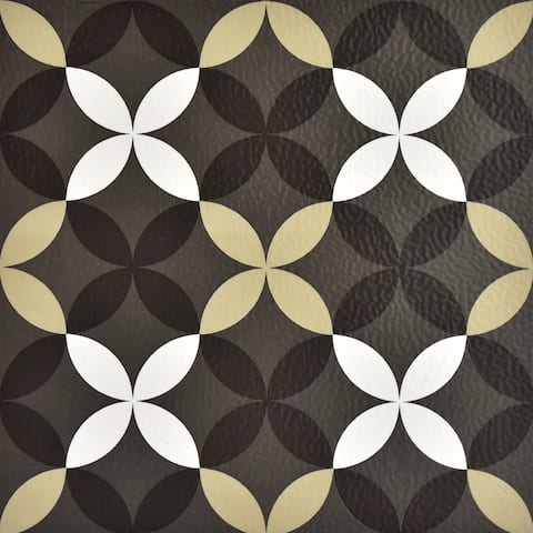 Brewster FP2479 Clover 10 Square Foot Peel and Stick Vinyl Floor Tiles