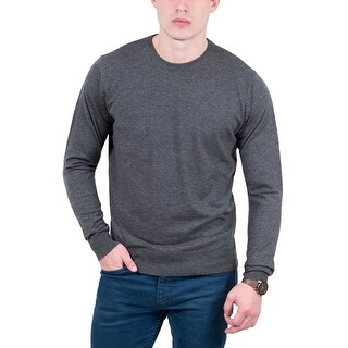RC by HS Collection Grey Crewneck Wool Blend Mens Sweater - eu=48/us=s