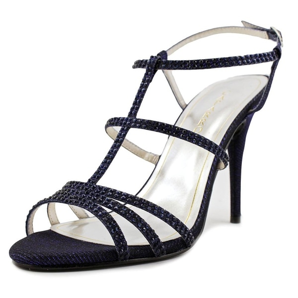 Caparros Groovy Women Open Toe Synthetic Blue Sandals