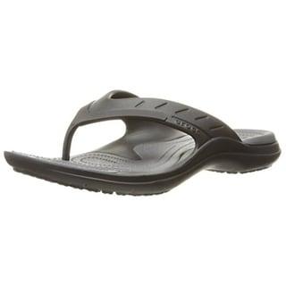 Crocs Mens Modi Sport Textured Casual Flip-Flops
