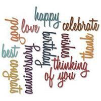 Celebration Script Words - Sizzix Thinlits Dies 13/Pkg By Tim Holtz