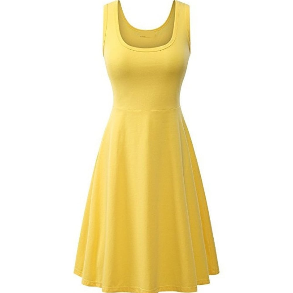 Cotton Sleeveless Flared Tank Dress
