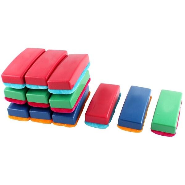 unique bargains 12 pcs plastic shell magnetic blackboard eraser