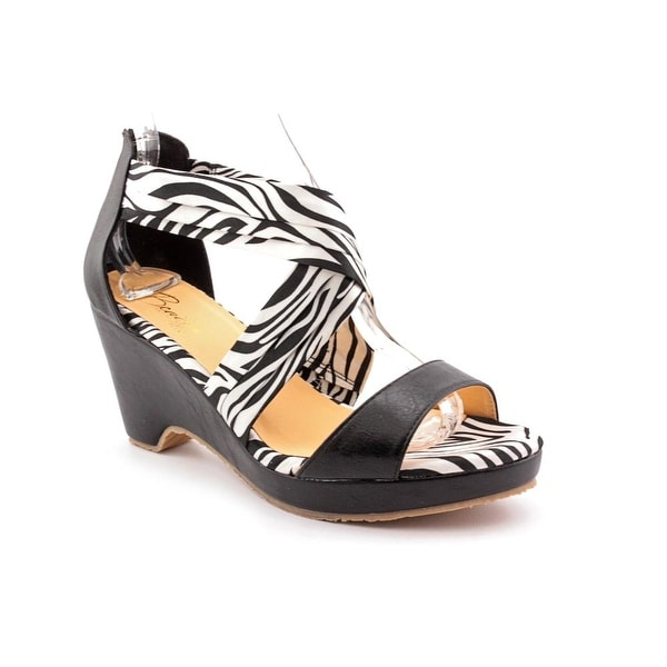 f257fa61eb90ff Shop Beacon Alana Women Zebra Black Sandals - Free Shipping On ...