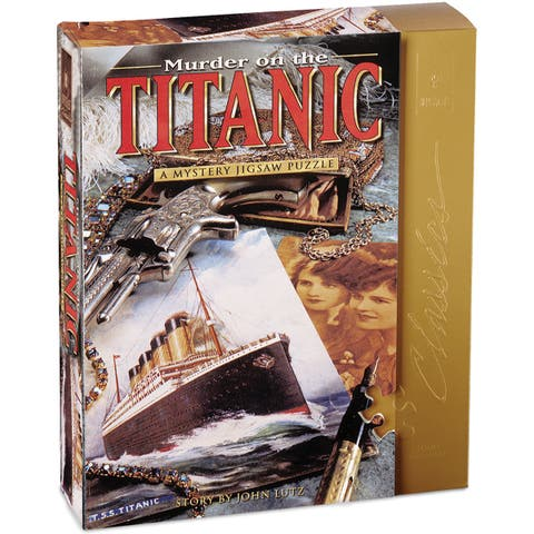 """Jigsaw Shaped Puzzle 1000 Pieces 23""""X29""""-Murder On The Titanic"""
