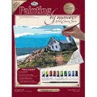 "The Lighthouse - Paint By Number Kit Artist Canvas Series 11""X14"""