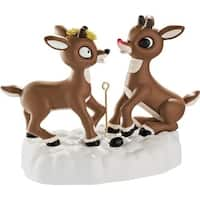 Carlton Cards Heirloom Rudolph and Clarice Light Up Christmas Ornament w/ Sound - multi