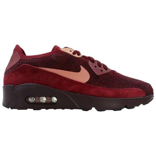 Punto de partida más y más psicología  Shop Nike Air Max 90 Ultra 2.0 Flyknit Team Red/Rust Pink 875943-601 Men's  Size 8 - Overstock - 29884678