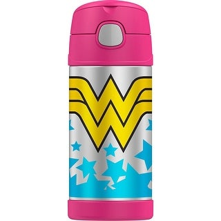 Thermos Funtainer Vacuum Insulated Stainless Steel Bottle (12 oz/ Wonder Woman)
