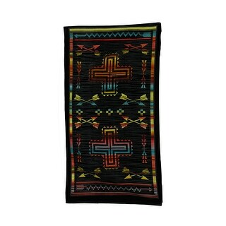 Straight Shooter Crossed Arrows Oversize Southwest Beach Towel 34 X 64 Inch - Black