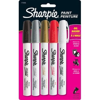 Sharpie Oil Based Quick Dry Permanent Marker, Pack Of 5