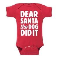 Dear Santa Dog  - Infant One Piece