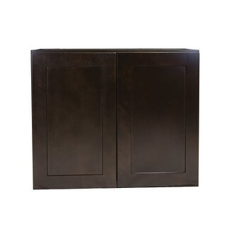 "Design House 620385 Brookings 30"" x 36"" Double Door Wall Cabinet - ESPRESSO - N/A"