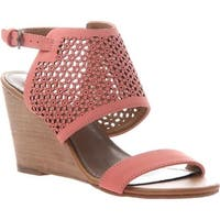 Madeline Women's Modern Wedge Sandal Coral Synthetic