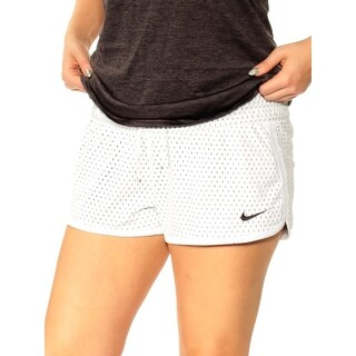 Womens White Active Wear Short Size L