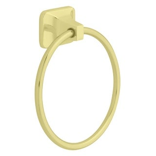 "Liberty Hardware D2416PB Futura Towel Ring, 7"" dia., Polished Brass"