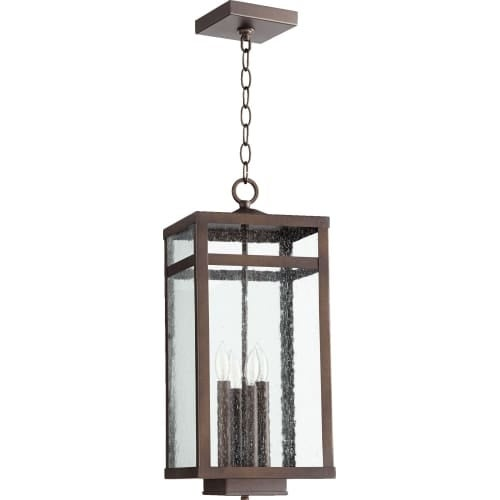 "Quorum International 773-4 Clermont 9"" Wide 4 Light Outdoor Pendant with Glass Shade"