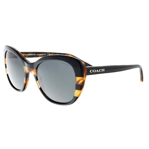 e53fce0ff8231 Coach HC8204 544380 Black Tortoise Cat Eye Sunglasses - 52-19-140