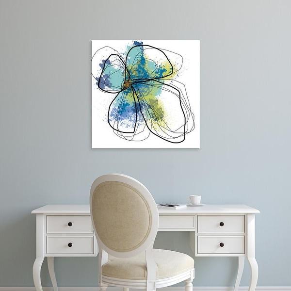 Easy Art Prints Jan Weiss's 'Azure Petals I' Premium Canvas Art