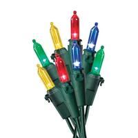 Celebrations 40832-71 Traditional Glass Look LED Light Set, 50 Multi-Color Lights