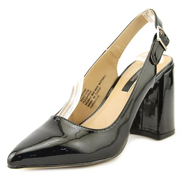 Kensie Tiffianie Women Pointed Toe Synthetic Black Slingback Heel