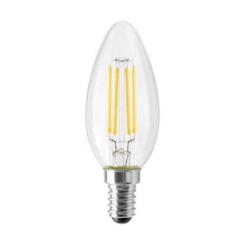 4.5 Watt B11 LED Clear 350 Lumens 3000K European base 120 Volt