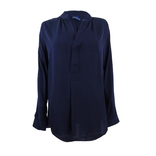 9dd278e627dfe Shop Polo Ralph Lauren Women s Silk Georgette Shirt - Free Shipping Today -  Overstock - 23611129