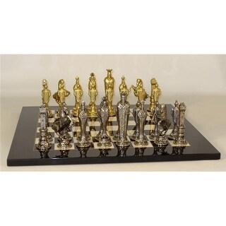 Worldwise Imports Renaissance Set - Black & White Burl Chess Board
