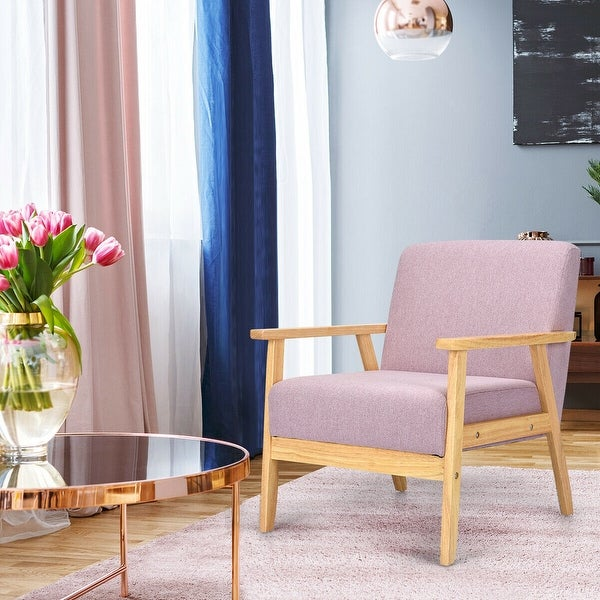 Armchairs And Accent Chairs.Shop Modern Fabric Upholstered Accent Chair Low Lounge Armchair