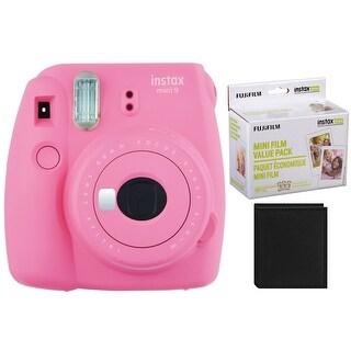 Fujifilm Instax Mini 9 Instant Camera (Pink) with 60 Film Value Pack and Album