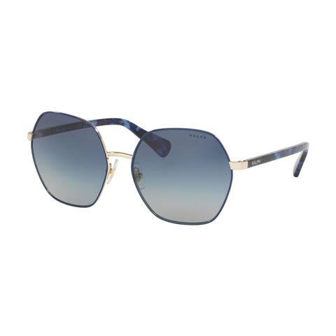 Ralph RA4124 93854L 60 Light Gold/blue Woman Irregular Sunglasses