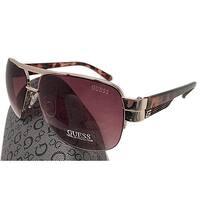 Guess GUF 126 GLD-34A Men's Aviator Sunglasses, Tortoise Gold Brown Lens - tortoise gold