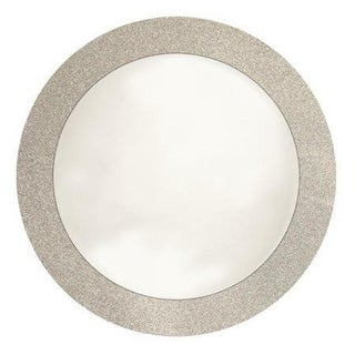 """Club Pack of 96 Silver Glitz Round Sparkly Christmas Disposable Placemats 14"""""""