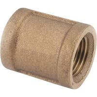 "Anderson Metals Corp Inc 3/8"" Brass Coupling 738103-06 Unit: EACH"