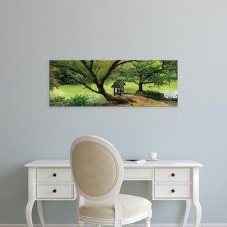 Easy Art Prints Panoramic Image 'Trees near a pond, Central Park, Manhattan, New York City, New York State' Canvas Art