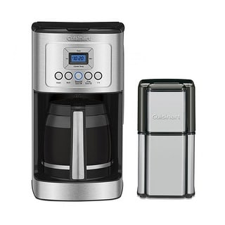 14 Cup Programmable Coffeemaker & Grind Central Coffee Grinder Kit Coffeemaker and Coffee Grinder