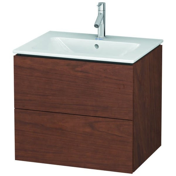 """Duravit LC6240 L-Cube 24"""" Single Wall Mounted Wood Vanity Cabinet Only"""