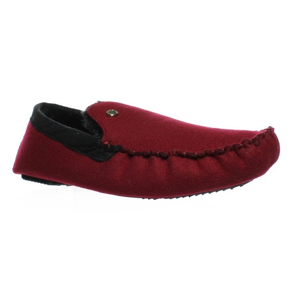 0caf3607a2a Shop Steve Madden Mens Pfire Red Moccasin Slippers Size 13 - Free ...