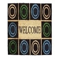 "J & M Home Fashions 10327 Vinyl Back Coir Circles Floor Mat, 18"" X 30"" - Thumbnail 0"