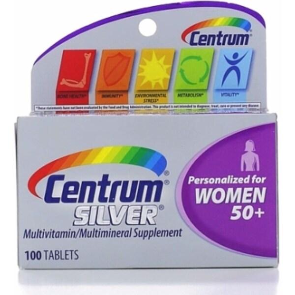 Centrum Silver MultivitaminTablets, Women 50+, 100 ea