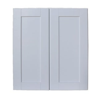 "Sunny Wood SHW2730-A Shaker Hill 27"" x 30"" Double Door Wall Cabinet - designer white - N/A"
