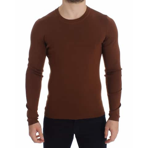 Dolce & Gabbana Brown Cashmere Crew-neck Sweater Pullover Women's Top