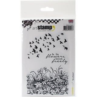Carabelle Studio Cling Stamp A6-Be As Flower